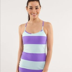 Lululemon Power Y Tank Mint Blue/Purple Stripe
